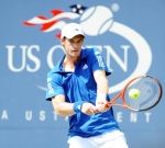 US Open 2010 D3 010910.Andy Murray (GBR) wins 1st set in first round match..Photo Anne Parker Fotosports International