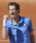 French Open 2011 01/06/11 D11.Andy Murray (GBR) wins 1st set in quarter final match .Photo Anne Parker Fotosports International