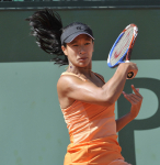 French Open 2011 23/05/11 D2.Anne Keothavong (GBR) in first set, first round match.Photo Anne Parker Fotosports International