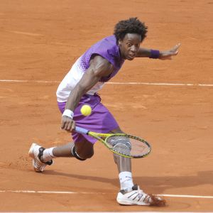 French Open 2011 30/05/11 D9.Gael Monfils (FRA) wi ns fourth round match.Photo Anne Parker Fotosports International