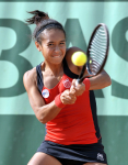 French Open 2011 26/05/11 D5.Heather Watson (GBR) loses second round match.Photo Anne Parker Fotosports International