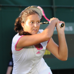 Wimbledon Championships Day 3 22/06/2011.Laura Robson (GBR) wins first round match.Photo: Anne Parker Fotosports International