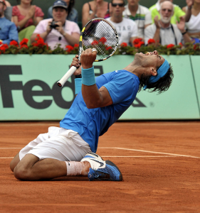 French Open 2011 03/06/11 D13.Rafael Nadal wins semifinal match in straight sets.Photo Anne Parker Fotosports International