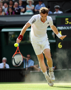 Wimbledon Championships Day 11 2010 02/07/10.Andy Murray (GBR) loses first two sets in semi final match.Photo Anne Parker Fotosports International