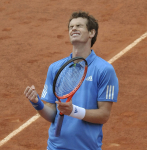 French Open 2011 31/05/11 D10..Andy Murray (GBR) wins fourth round match..Photo Anne Parker Fotosports International