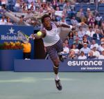 Gael Monfils (FRA) (17) against Novak Djokovic (SRB) (3) in the quarter finals of the men's singles. Novak Djokovic beat Gael Monfils 7-6 6-1 6-2..International Tennis - US Open - Day 10 - 8 Sep 2010 - USTA Billie Jean King National Tennis Center - ..© AMN Images, Level 1, Barry House, 20-22 Worple Road, London, UK, SW19 6HU.Tel - +44 20 8947 0100.email - mfrey@advantagemedianet.com.web - http://amnimages.photoshelter.com/.web - www.advantagemedianet.com