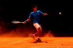 Novak Djokovic on the clay in Madrid 2010.Photo: Ella Ling.