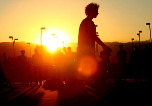 Ernests Gulbis at sunset in Indian Wells 2010.Photo: Ella Ling.