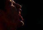 Andy Murray of Great Britain screams at Roland Garros, Paris, 2010.Photo: Ella Ling.