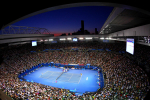 Rod Laver Arena, sunset, 2011.Photo: Ella Ling.
