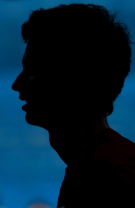 Andy Murray of Great Britain in action during a practice at the Australian Open, Melbourne, 2011.Photo: Ella Ling