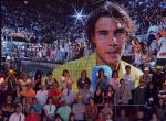 Rafael Nadal of Spain wins in Madrid 2010.Photo: Ella Ling.