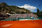 Andy Murray of Great Britain in action on the clay at the ATP Monte-Carlo Rolex Masters, Monaco, 2010.Photo: Ella Ling