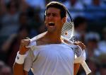 Novak Djokovic of Serbia celebrates ripping his shirt at Wimbledon 2010.Photo: Ella Ling
