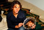 Rafael Nadal, Madrid, trophy in hotel, 2010.Photo: Ella Ling.