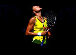 Dinara Safina of Russia reacts in frustration at the Australian Open 2010.Photo: Ella Ling