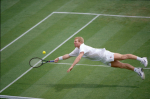 WIMBLEDON 1996..JIM COURIER dives on court N.3..PHOTO RAY GIUBILO