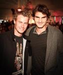 Gerry Weber Open Fashion Night, Modenschau und musikalische Unterhaltung im VIP Bereich, Roger Federer und Lleyton Hewitt,..Photo: Juergen Hasenkopf