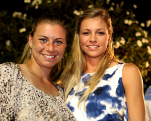PTT Pattaya Open 2011,WTA Tennis Turnier,. International Series, Dusit Thani Resort in Pattaya,.Thailand,Players Party,L-R. Vera Zvonareva (RUS).und Maria Kirilenko (RUS)