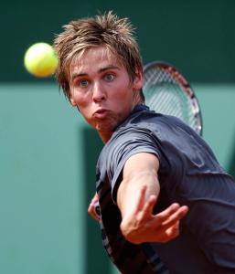 French Open 2011, Roland Garros,Paris,ITF Grand Slam Tennis Tournament . Junioren, Julian Lenz (GER),Einzelbild,Aktion,