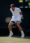 Wimbledon Championships 2011, AELTC,London,..ITF Grand Slam Tennis Tournament , Doppel Wettbewerb, Christopher Kas (GER) springt hoch und jubelt nach dem Sieg,Emotion, Einzelbild,