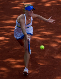 Olga Pivovarova (RUS) against Daniela Hantuchova (SVK) (23) in the second round of the women's singles. Daniela Hantuchova beat Olga Pivovarova 7-5 6-3..Tennis - French Open - Day 6 - Fri 29 May 2010 - Roland Garros - Paris - France..© FREY - AMN Images, 1st Floor, Barry House, 20-22 Worple Road, London. SW19 4DH - Tel: +44 (0) 208 947 0117 - contact@advantagemedianet.com - www.photoshelter.com/c/amnimages