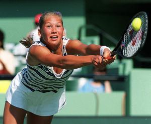 Anna Kournikova (Russia) Liptons Tennis Tournament March 1998 .Photo: Roger Parker Fotosports International