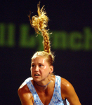NASDAQ 100 TENNIS CHAMPIONSHIPS KEY BISCAYNE MIAMI 21/03/03 ANNA KOURNIKOVA LOSING TO DINARA SAFINA IN STRAIGHT SETS PHOTO ROGER PARKER FOTOSPORTS INTERNATIONAL