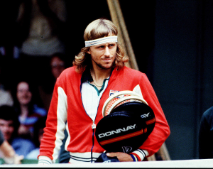 BJORN BORG (SWEDEN).WIMBLEDON 1981.PHOTO ROGER PARKER FOTOSPORTS INTERNATIONAL