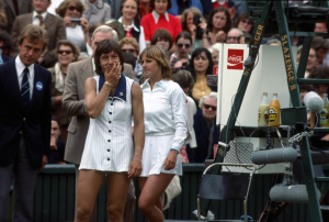 Wimbledon Championships London England 03/07/1978..Martina Navratilova beats Chis Evert to win her first Wimbledon Grand slam..Photo Roger Parker Fotosports International..