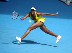 Melbourne Australian Open Tennis 2010 27/01/2010.Venus Williams (USA) loses Quarter Final match..Photo:Roger Parker Fotosports International.