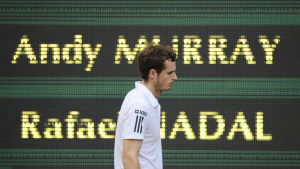 2/7/2010.WIMBLEDON TENNIS.MENS SEMI FINAL ..ANDY MURRAY LOSES TO RAFAEL NADAL IN STRAIGHT SETS .PICTURE BY DAVE SHOPLAND .