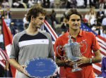 8/9/2008.US OPEN TENNIS CHAMPIONSHIPS.NEW YORK. MEN'S SINGLES FINAL..ANDY MURRAY LOSES IN STRAIGHT SETS TO ROGER FEDERER ..PIC DAVE SHOPLAND