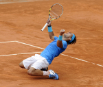 3/6/2010.PARIS FRANCE FRENCH OPEN TENNIS CHAMPIONSHIPS ROLAND GARROS FRIDAY ANDY MURRAY LOSES IN STRAIGHT SETS IN SEMI FINAL AGAINST RAFAEL NADAL PICTURE BY DAVE SHOPLAND .