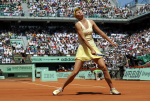 2/6/2010.PARIS FRANCE FRENCH OPEN TENNIS CHAMPIONSHIPS ROLAND GARROS THURSDAY MARIA SHARAPOVA IN SEMI FINAL ACTION AGAINST NA LI PICTURE BY DAVE SHOPLAND .