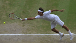 3/7/2009.WIMBLEDON TENNIS CHAMPIONSHIPS. SEMI FINAL.ROGER FEDERER BEATS TOMMY HAAS IN 3 SETS..PIC DAVE SHOPLAND .