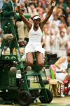 Venus Williams (USA).Winning/victory moment - Wimbledon Final. . . .. . . . .