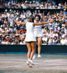 MARTINA NAVRATILOVA (USA) & CHRIS EVERT (USA), DOUBLES VICTORY M