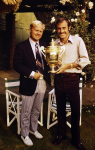 JOHN NEWCOMBE (AUS), WIMBLEDON CHAMPION 1971 WITH JACK NICKLAUS (USA), PROFESSIONAL GOLFER